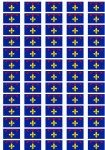 Provence Flag Stickers - 65 per sheet
